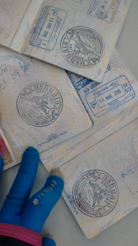 Passaporte carimbado